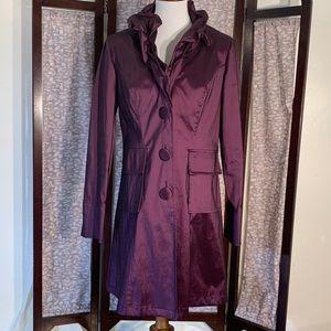 """Joseph Ribkoff purple """"rain"""" coat."""